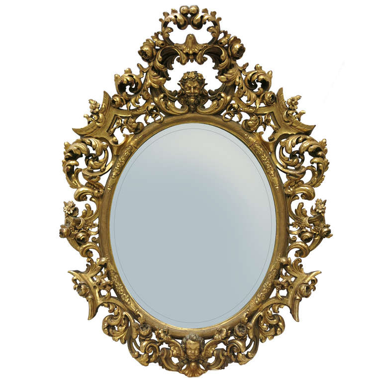 18th Century Baroque Mirror For Sale at 1stdibs