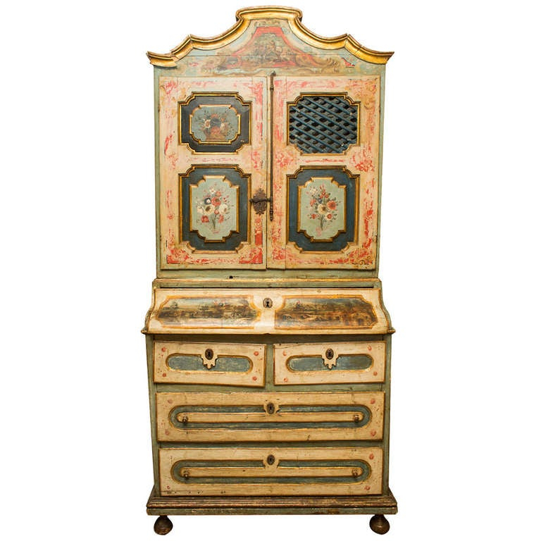 stunning baroque pharmacy bureau for sale at 1stdibs. Black Bedroom Furniture Sets. Home Design Ideas