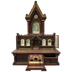 Neo-Gothic Reliquary Masterpiece with Notary