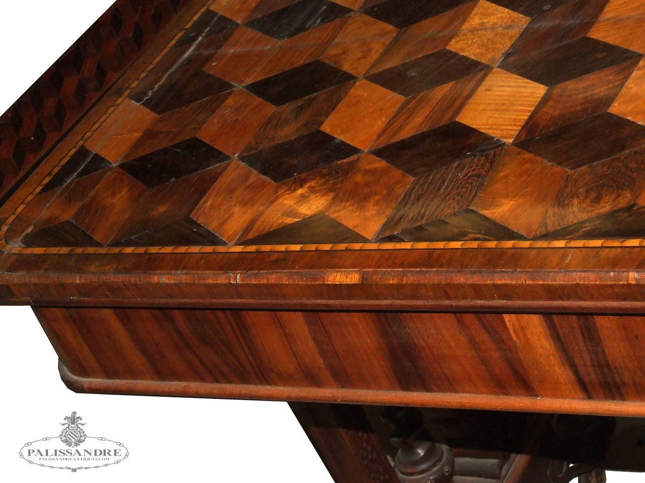 Palissandre table decorated with inlay For Sale at 1stdibs -> Table Tele Palissandre