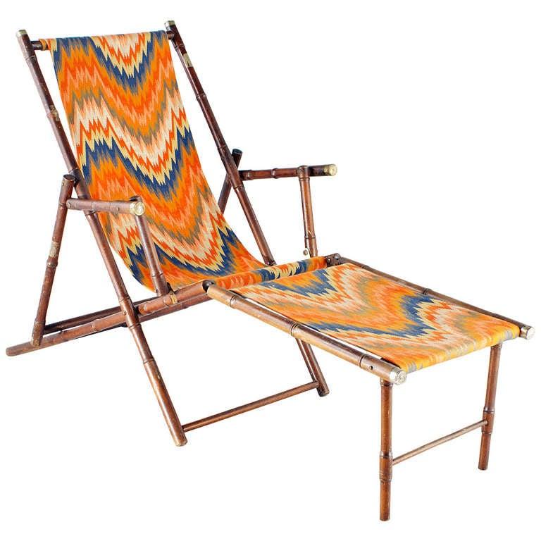 deck chair 1922 bauhaus original fabric at 1stdibs. Black Bedroom Furniture Sets. Home Design Ideas