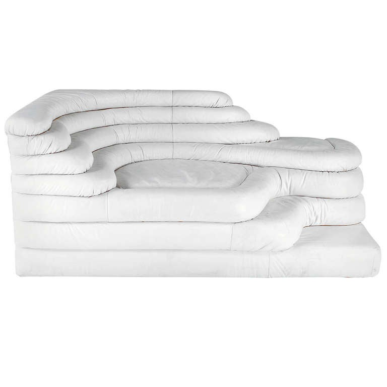 Modular Sofa DS 1025 Four Pieces In White At 1stdibs