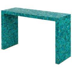 Turquoise Console Table by Kam Tin