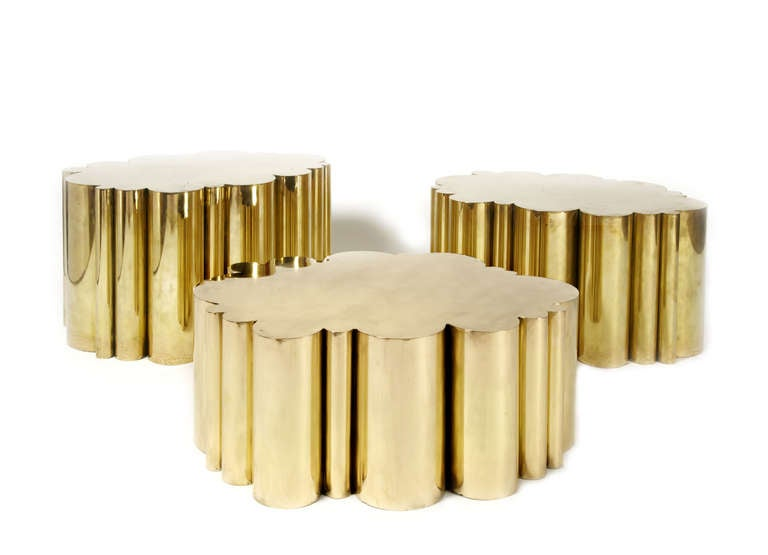 Cloud tables in brass by kam tin at 1stdibs - Table basse rangements ...