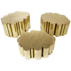 """Cloud"" Tables in Brass by Kam Tin"