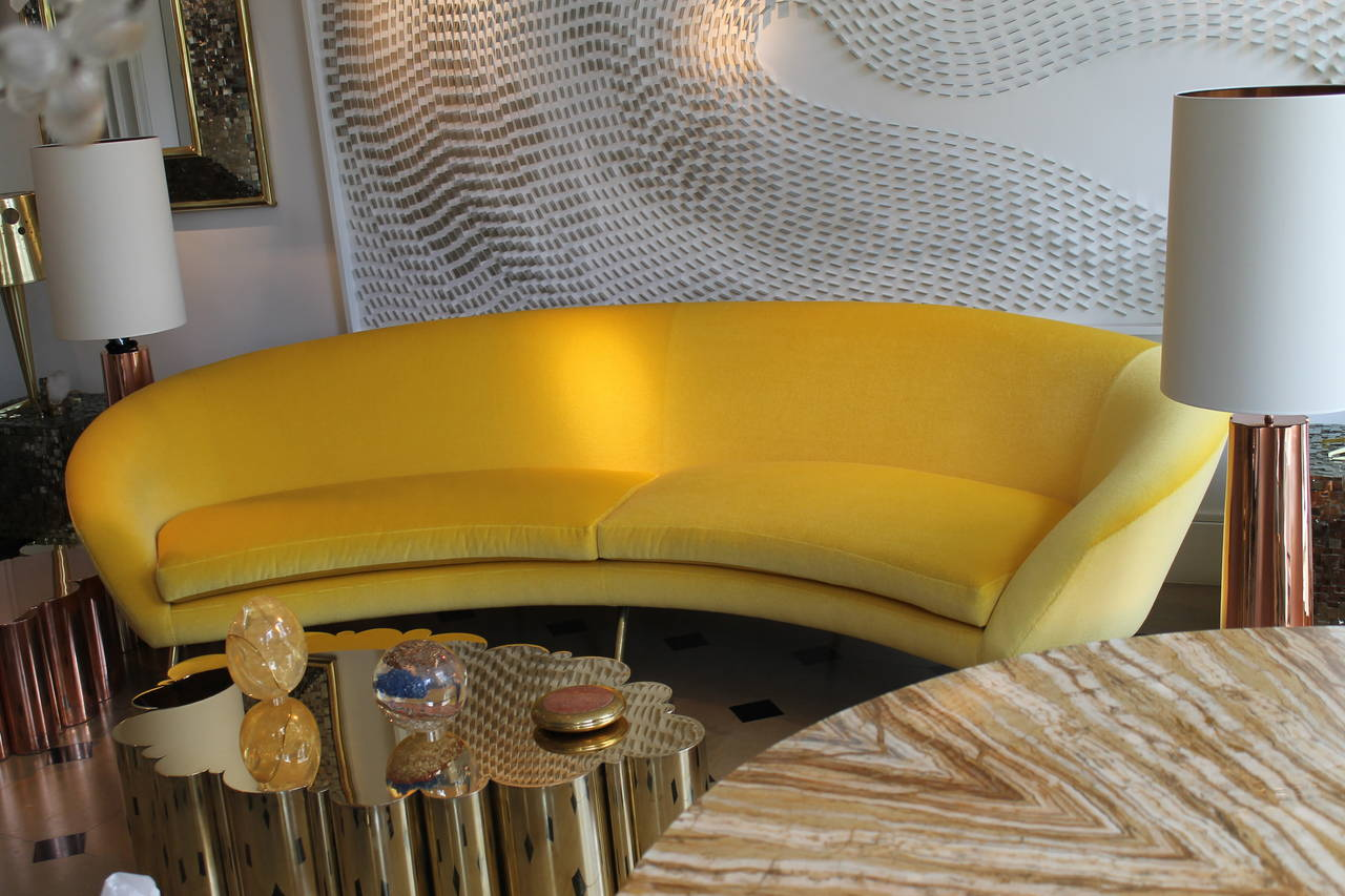 Yellow Sofa by Giuseppe Rossi for Rossi di Albizzate at 1stdibs