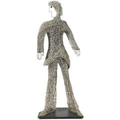 "Important Wire ""Walking-Sculpture"" by William Accorsi"
