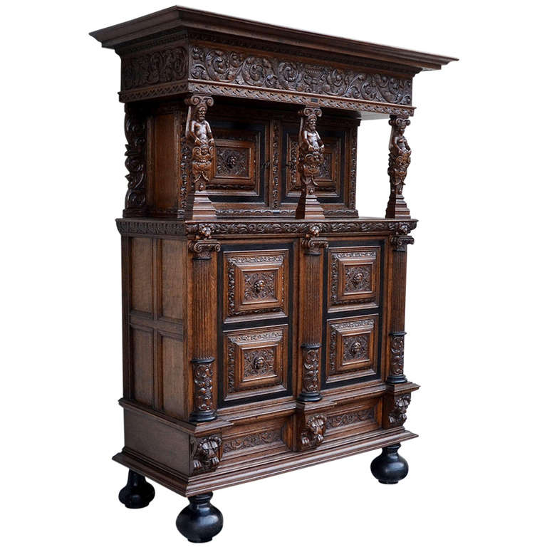 Rare Authentic Baroque Cabinet from Northern Germany, circa 1700 at ...