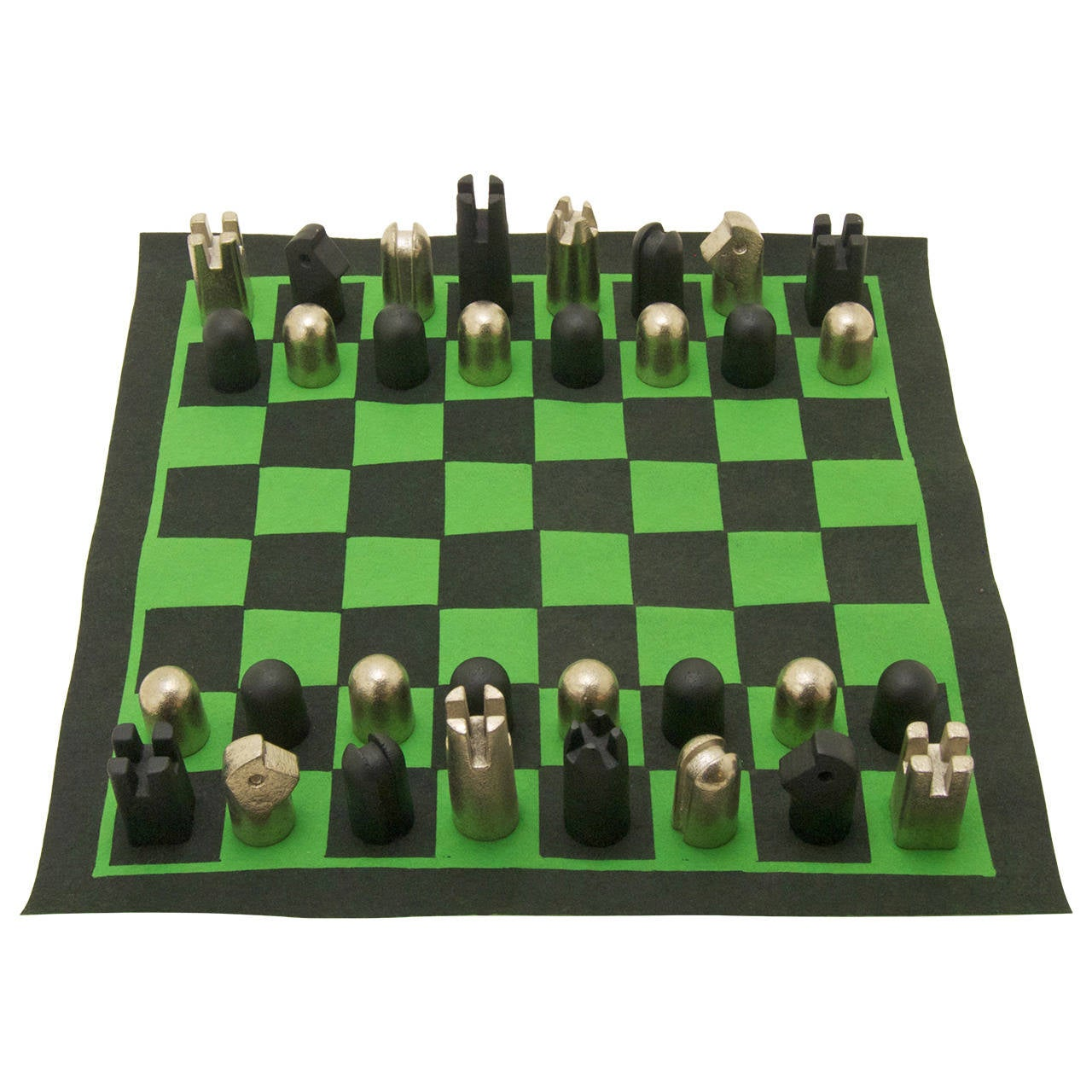 Rare chess set by carl aub ck for sale at 1stdibs - Karim rashid chess set ...