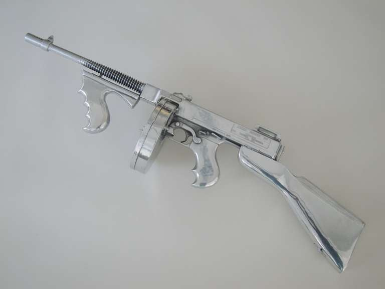 Sculpture of a Tommy Gun in a Violin Case,
