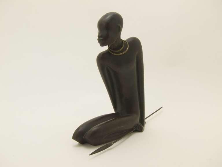 Austrian African Hunter by Karl Hagenauer For Sale