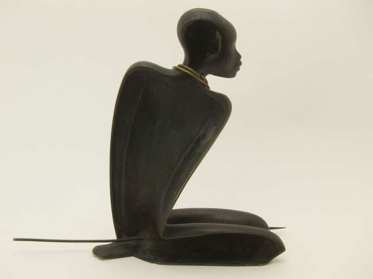 Mid-20th Century African Hunter by Karl Hagenauer For Sale