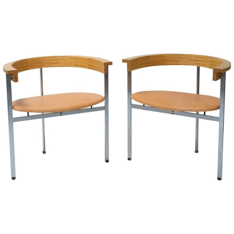 Two PK 11 Chairs by Poul Kjaerholm