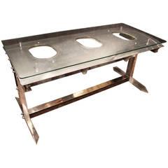 Polished Aluminium Airplane's Fuselage Desk or Table