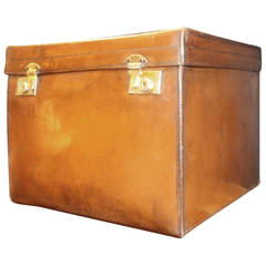 1920s Leather Hat Box