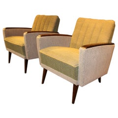 1950s Modernist Italian Pair of Chairs