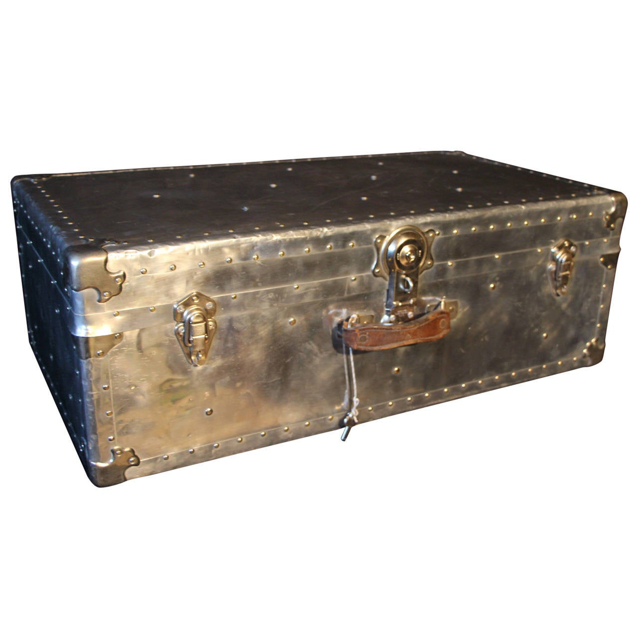 1940s Aluminum Steamer Trunk At 1stdibs