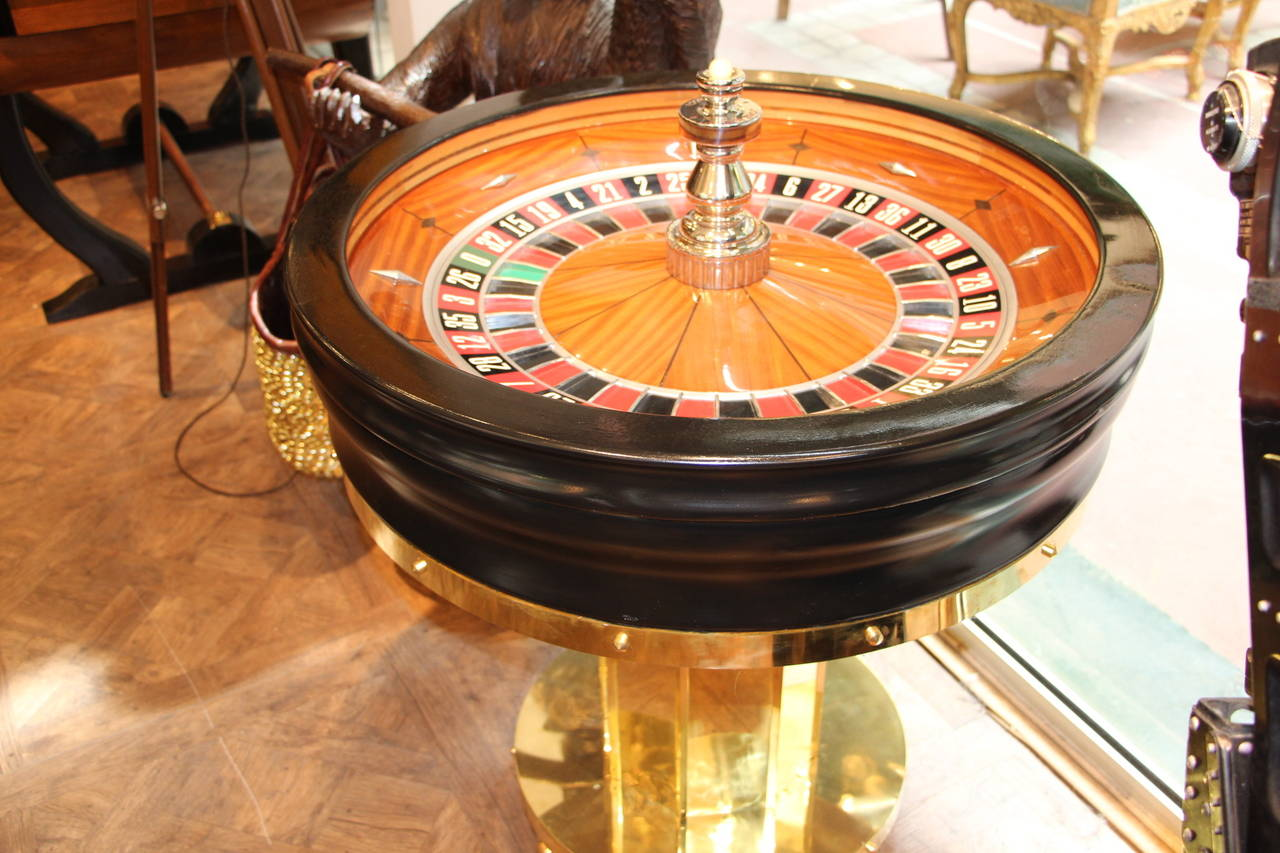 mahogany and black wood casino roulette wheel by john. Black Bedroom Furniture Sets. Home Design Ideas