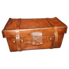 1920s John Pound Leather Trunk