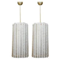 Tall Pair of Murano Glass Lanterns