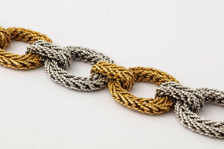 Cartier Two-Tone Gold Rope Link Bracelet For Sale 2