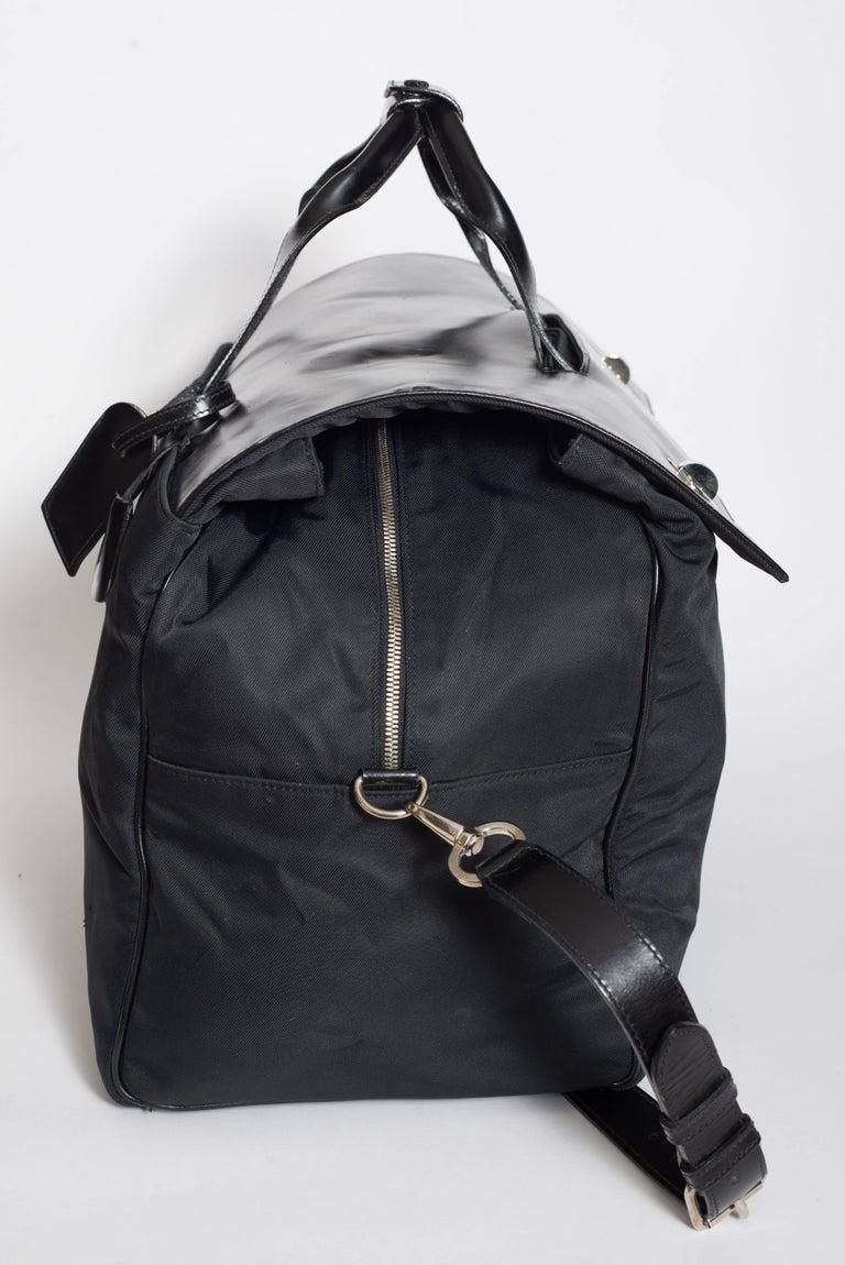 Black Bulgari Rare Millennial Large Week End Bag For Sale