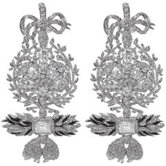 Magnificent Costume Jewelry Large  Diamond Order of the Golden Fleece earrings