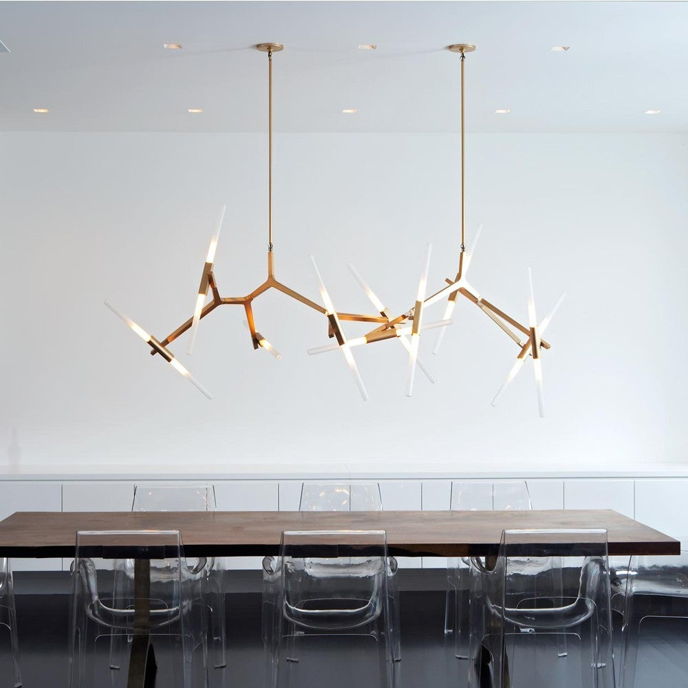 custom agnes ten light chandelier in brushed copper for. Black Bedroom Furniture Sets. Home Design Ideas