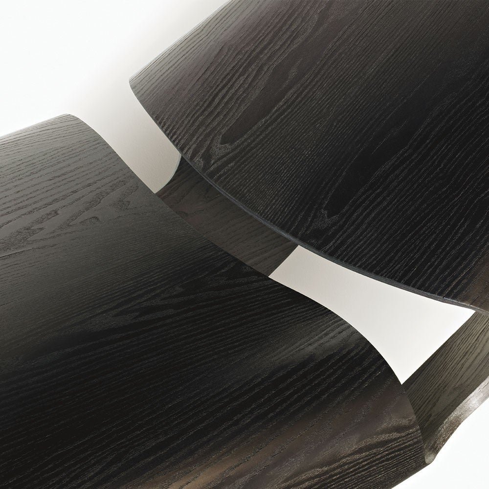 Modern Cowrie Rocking Chair Bent Wood Walnut Rocker For Sale
