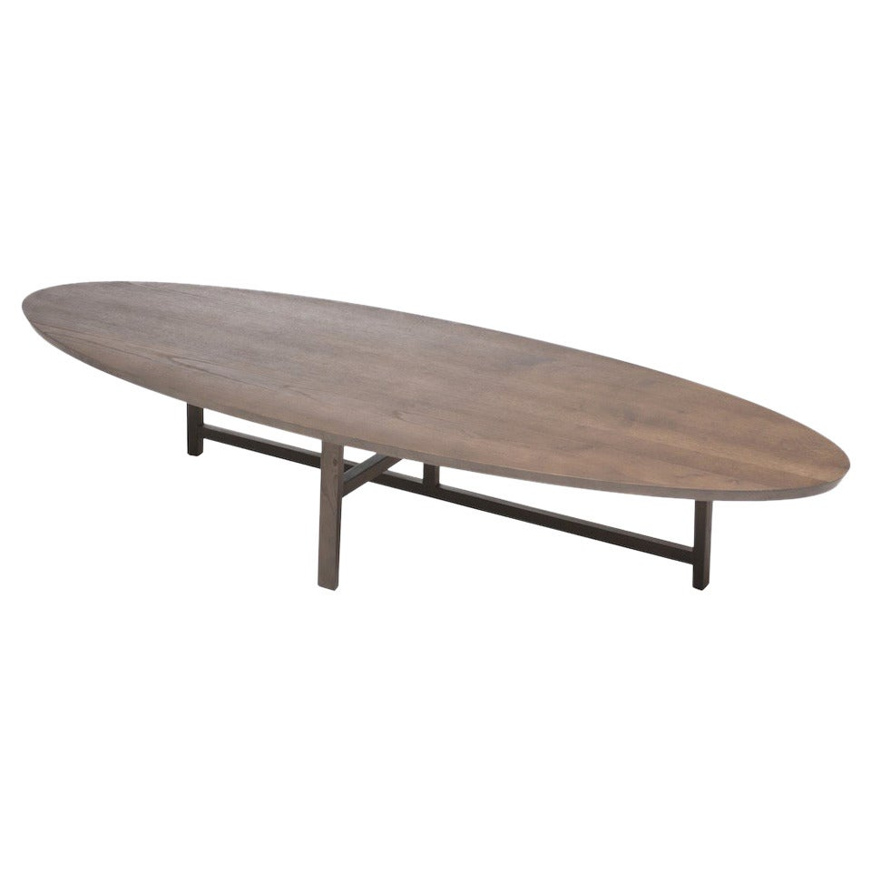 Neri And Hu For De La Espada Trio Oval Coffee Table In Brown Stained Ash For Sale At 1stdibs