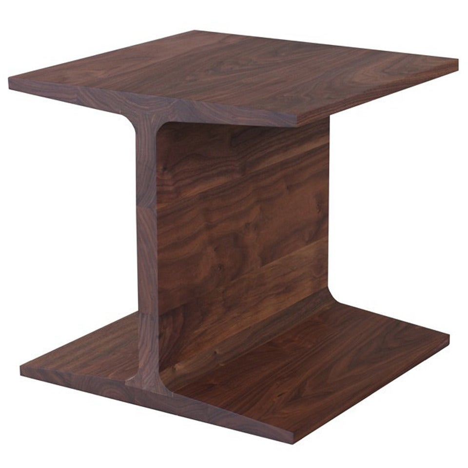 matthew hilton for de la espada i beam side table walnut
