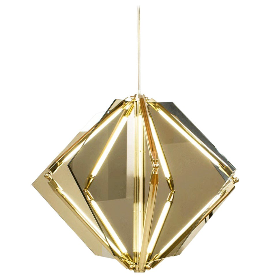 Echo 1 led light pendant chandelier mirror brass for sale at 1stdibs echo 1 led light pendant chandelier mirror brass for sale arubaitofo Gallery