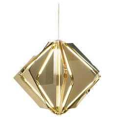 Echo 1 LED Light Pendant Chandelier Mirror Brass