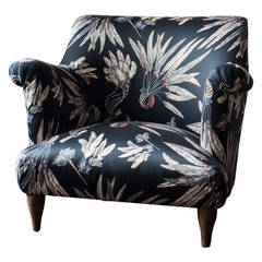 Russell Pinch for The Future Perfect Goddard Armchair in Brazil Fabric