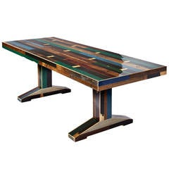 240 Canteen Table in Scrapwood, Dark Colors