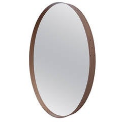 Pinch Iona Wall Hung Mirror Medium in Walnut Wood