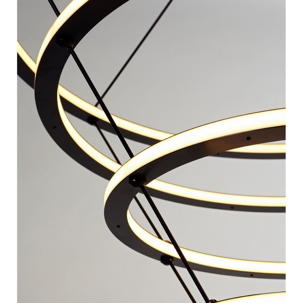 American Paul Loebach for Roll & Hill Four-Ring Halo Chandelier For Sale