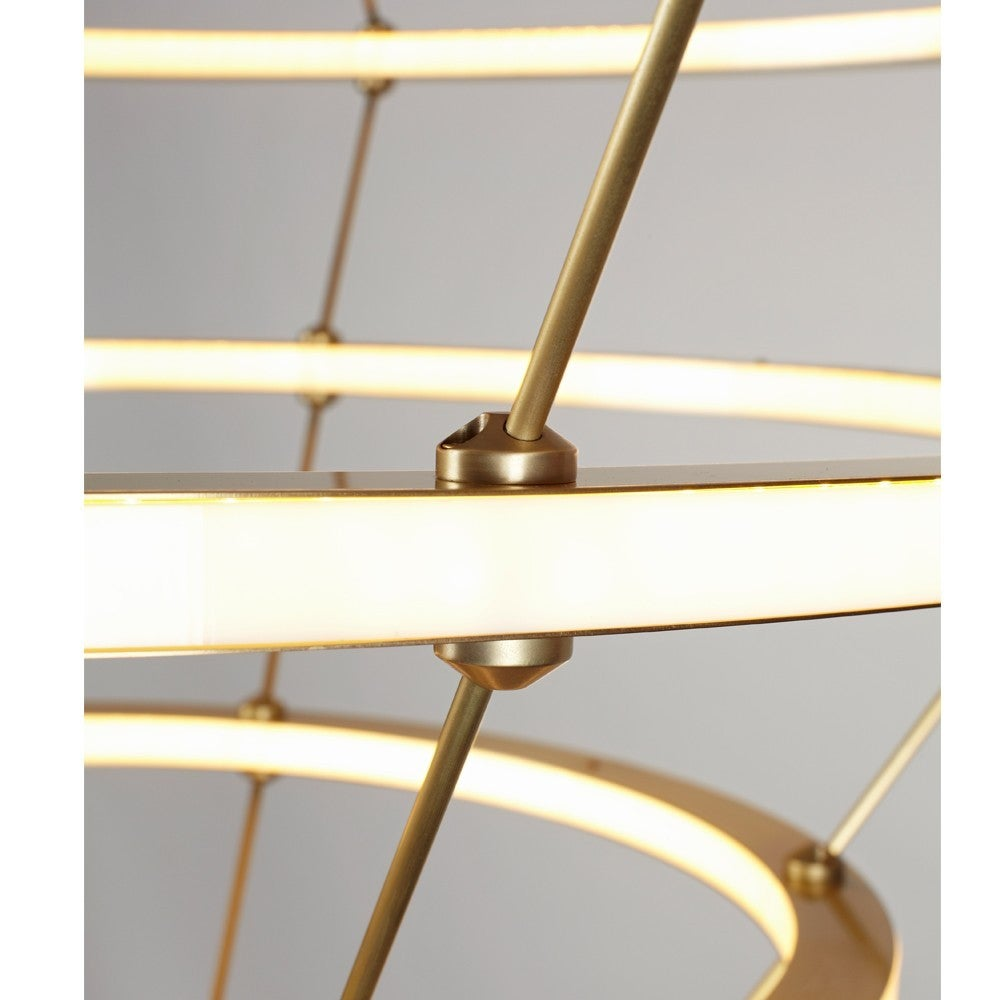 Paul Loebach for Roll & Hill Four-Ring Halo Chandelier For Sale 2