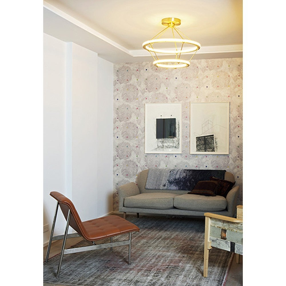 Paul Loebach for Roll & Hill Four-Ring Halo Chandelier In Excellent Condition For Sale In New York, NY