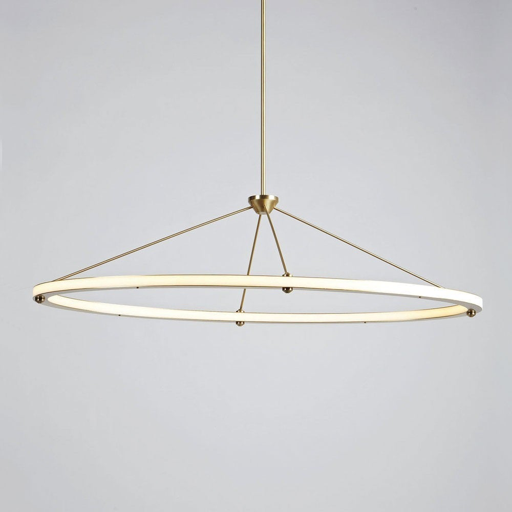 Paul Loebach for Roll u0026 Hill Halo Oval Pendant 2  sc 1 st  1stDibs : oval pendant light - azcodes.com
