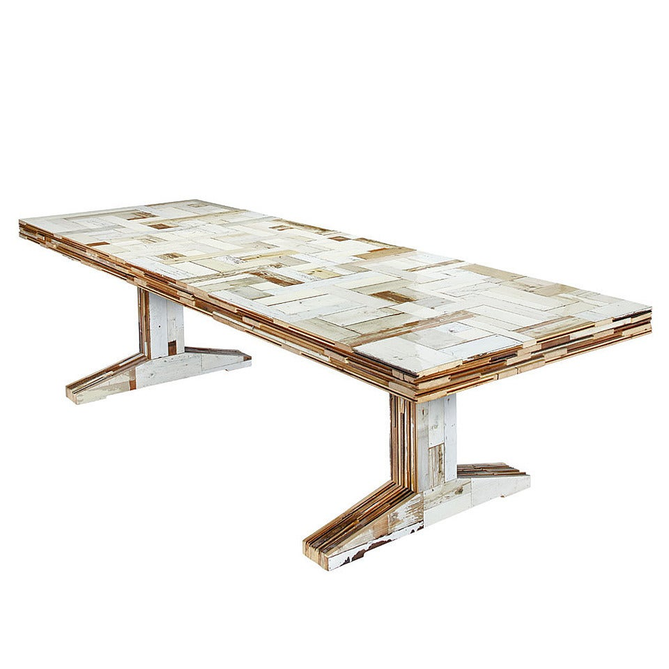 Quot 300 Waste Quot Table In Scrapwood By Piet Hein Eek At 1stdibs