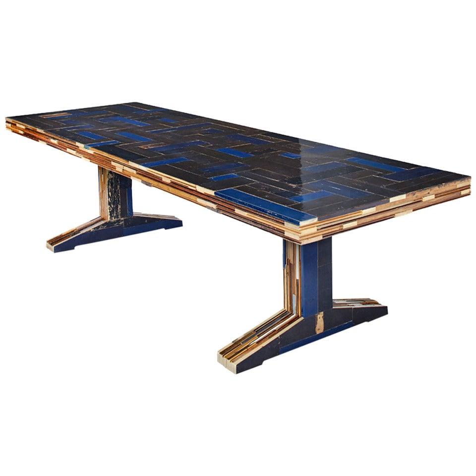 Piet Hein Eek Quot 300 Waste Quot Table In Scrapwood For Sale At