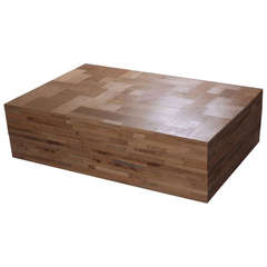 Piet Hein Eek Waste Scrap wood Coffee cube Low Table in Oak