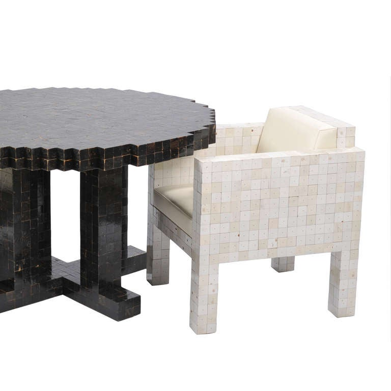 40x40 waste round table at 1stdibs for Table exterieur 40x40