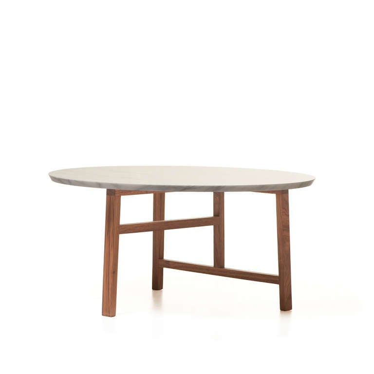 Round Coffee Table With Marble Top At 1stdibs