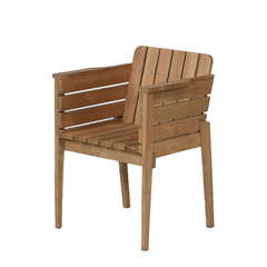 Piet Hein Eek Outdoor Bucket Chair In Teak