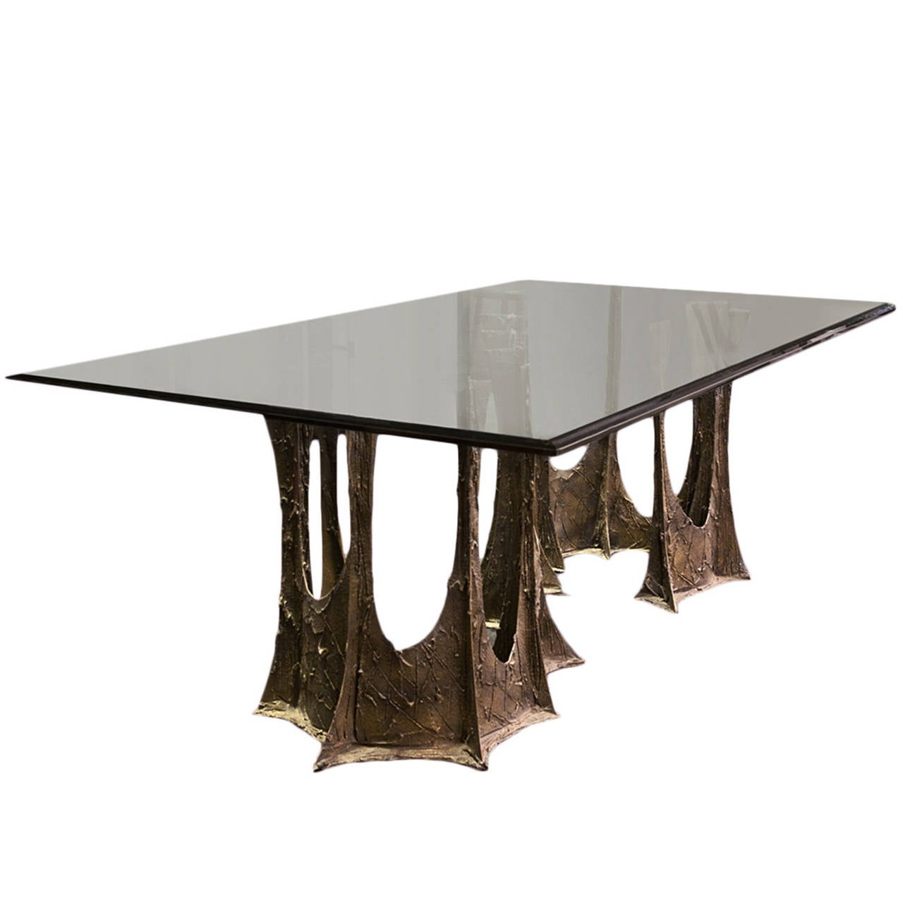 Bronze stalagmite dining table by paul evans at stdibs