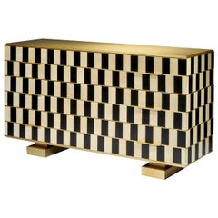 """Chest of Drawers """"Op'Art"""" by Hervé Langlais for Galerie Negropontes"""