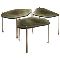 "Side tables ""Turtle"" by Hervé Langlais for Galerie Negropontes"