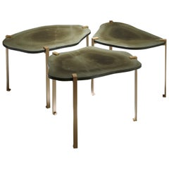 """Side Tables """"Turtle"""" by Hervé Langlais for Galerie Negropontes"""